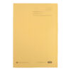 Elba Square Cut Folders Foolscap Yellow 285gsm 100090223 [Pack 100] | Made from 100% recycled material and recyclable | Fusion Office UK