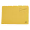 Elba Tabbed Folders Yellow 250gsm 100090237 [Pack 20]   100% Recyclable   Ideal for sub dividing contents within a folder   Fusion Office UK