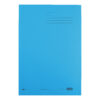 Elba Strongline Square Cut Folders Blue 100090020 [Pack 50]   100% recycled and recyclable   Heavyweight 320gsm manilla   Fusion Office UK