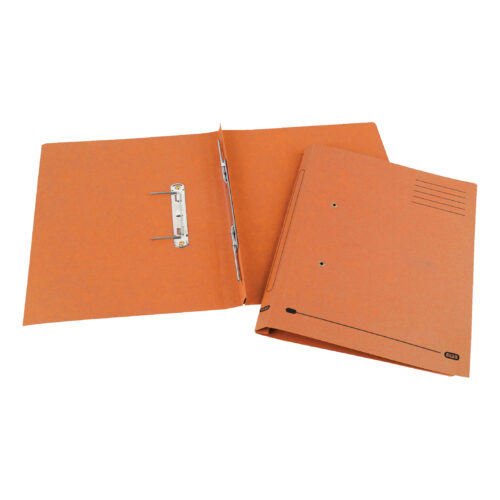 Elba Spirosort Transfer Spring Files Orange 100090161 [Pack 25] | Made from a minimum 70% recycled material and recyclable | Fusion Office UK