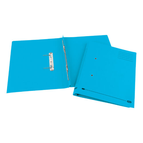 Elba Strongline Spring Files Blue 100090035 [Pack 25] | Made from bright heavyweight 320gsm manilla | Fusion Office UK