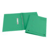 Elba StrongLine Spring Files Green 100090036 [Pack 25]   Made from bright heavyweight 320gsm manilla   Fusion Office UK
