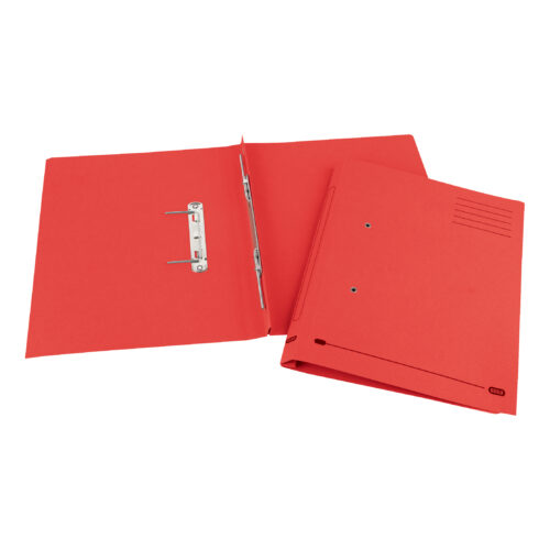 Elba StrongLine Spring Files Red 100090038 [Pack 25] | Made from bright heavyweight 320gsm manilla | Fusion Office UK