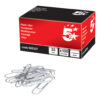 Large Paperclips Plain 33mm Box 100   Ideal for holding documents without damaging the pages   Fusion Office