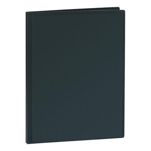 Presentation Display Book 20 Pockets Black | Premium quality black A4 display book | Glass clear interior pockets | Fusion Office