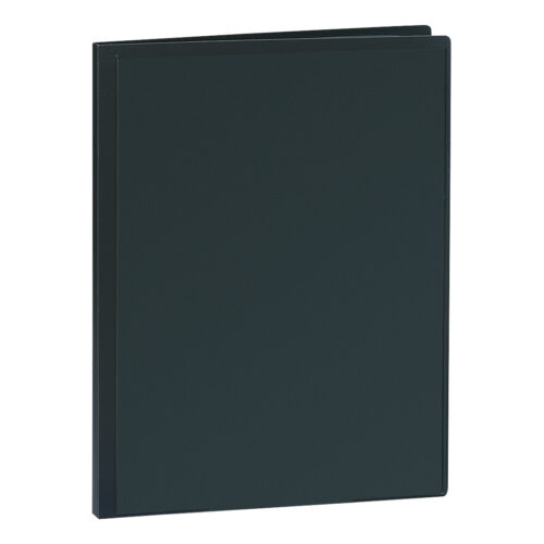 Presentation Display Book 30 Pockets Black | Premium quality black A4 display book | Glass clear interior pockets | Fusion Office
