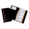 Rexel Optima Business Card Book Black 2101131   2 ring binder mechanism   Alphabetic index system   128 cards / 64 pockets   Fusion Office UK