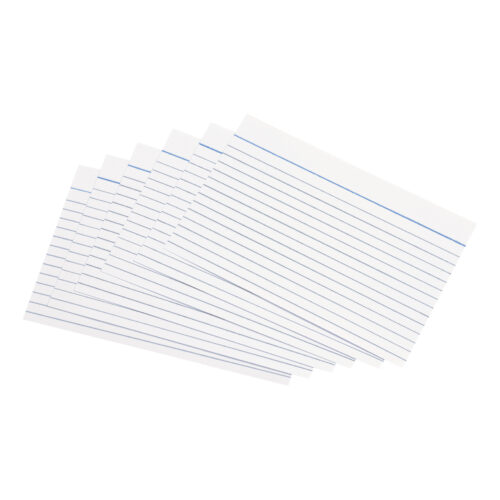 Record Cards Ruled 6x4 152x102mm White [100] | Perfect for archiving, indexing, presentations or studying | Fusion Office