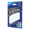Sellotape 140 Sticky Fixers Permanent 1445422 [Pack 6] | Strong double sided adhesion pre-cut pads | Indoor Use | Fusion Office UK