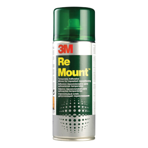 3M ReMount 400ml Repositionable Adhesive Spray Can RMOUNT   Allows lifting & mounting numerous times without respraying   Fusion Office UK