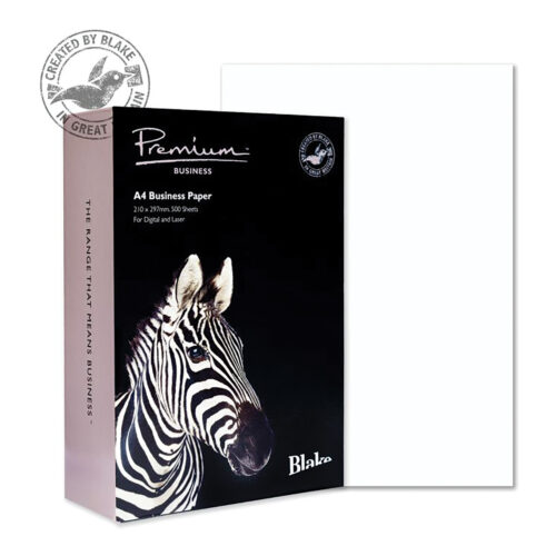 Blake Premium Wove Brilliant White A4 120gsm Paper [Pack 500] | Ideal for Letterheads, leaflets, invitations & certificates | Fusion Office UK