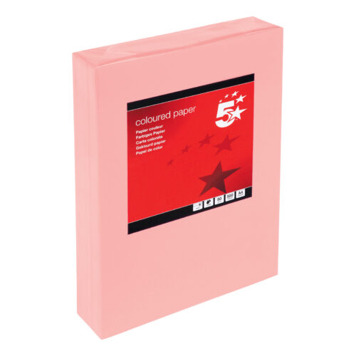 Paper A4 Medium Salmon 80gsm (500 Sheets)   Colour code documents for ease of filing & identification   laser & Inkjet   Fusion Office UK