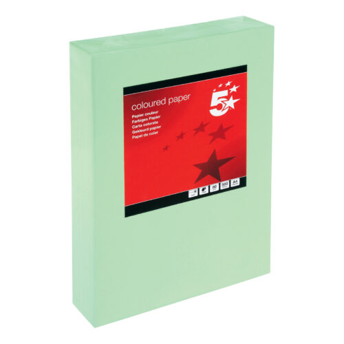 Paper A4 Medium Green 80gsm (500 Sheets) Ream   Colour code documents for ease of filing & identification   laser & Inkjet   Fusion Office UK