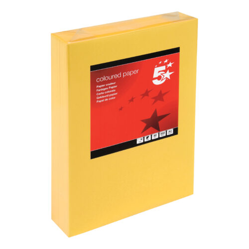 Paper A4 Medium Gold 80gsm (500 Sheets) Ream | Colour code documents for ease of filing & identification | laser & Inkjet | Fusion Office UK