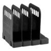 Avery 1136BLK Basics Book Rack Black   Keeps books, brochures, files and folders upright and tidy   Modular system   Fusion Office UK