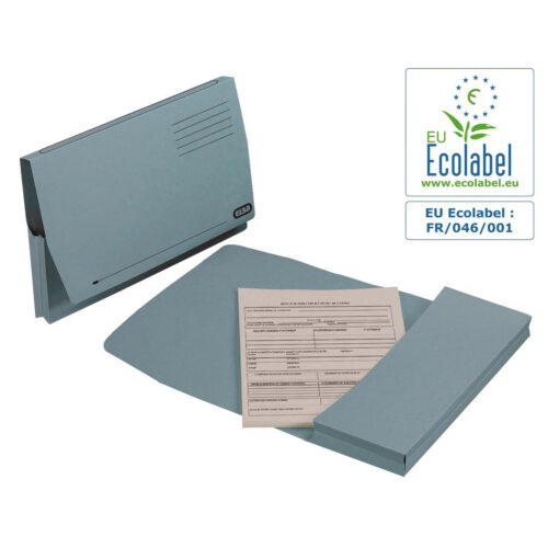 Elba Full Flap Document Wallets Blue Foolscap 100090131 [Pack 50] | Made from 100% recycled material & are also recyclable | Fusion Office UK