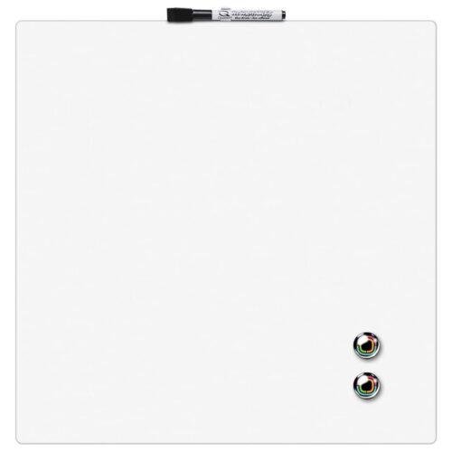 Rexel Square Drywipe Tile White 360x360mm 1903802 | Mini frameless dry erase magnetic whiteboard tile | Fusion Office UK