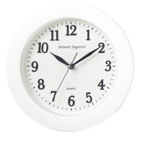 Wall Clock White 250mm Diameter | The perfect office clock! | Plastic case and glass lens | 12 Hour Dial | Fusion Office UK