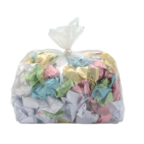 Clear Bin Liners 190Litres Extra Heavy Duty [Pack 100] | 39 microns cater for extra heavy use | Fusion Office