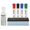 Rexel Whiteboard Starter Kit 1903798 | With 4 dry wipe pens, eraser & spray cleaner | Keep your board looking its best | Fusion Office UK