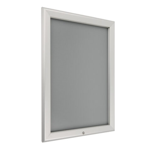 Locking Snap Frame A4 Silver | Perfect for use in restaurants schools and offices | frame is locked with a screw | Fusion Office UK