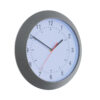 Wall Clock Grey Case 300mm Diameter | Shows hours & minutes | Quartz movement | Stylish coloured plastic case & glass lens | Fusion Office UK