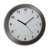 Wall Clock Radio Controlled Grey Case 300mm Diameter   Acctim Cadiz round wall clock   Diameter 255mm   Radio controlled   Fusion Office UK