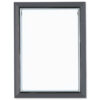 Certificate Frame Grey A4   Snap frame   Non-glass polystyrene front   Free-standing or Wall-mounted   Fusion Office UK