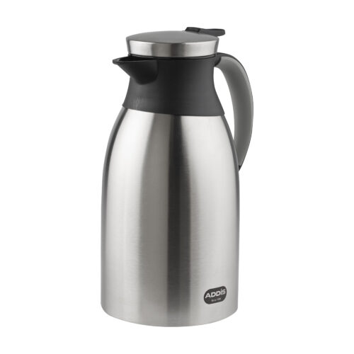 Addis Vacuum Jug Stainless Steel 1.8 Litres 517469 | High quality vacuum insulated stainless steel liner | Fusion Office UK