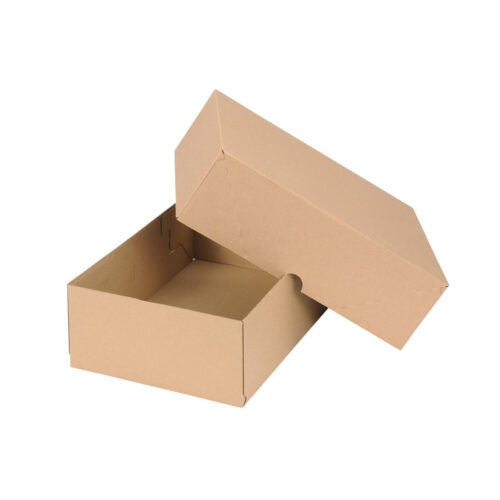 Box Carton A4 100mm High & Lid Brown [10]   Easy Assembly   Telescopic lid allows for varying height   Fusion Office
