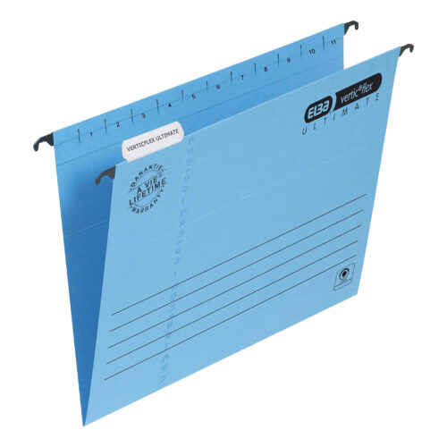 Elba Verticflex Ultimate A4 Blue 100331149 [Pack 25]   100% recycled material and Blue Angel accredited manilla   Fusion Office UK