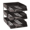 Avery 1132BLK Basics Letter Tray Black   Versatile letter tray for A4 and Foolscap papers   Can be stacked using risers   Fusion Office UK