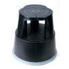 Plastic Kick Stool Black (Step Stool)   Retractable spring-loaded castors   Made from high-impact plastic   GS approved   Fusion Office UK