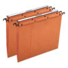 Elba AZO Suspension Files 15mm Orange Foolscap 100330312 [Pack 25] | 100% recycled material | Durable steel metal bars | Fusion Office UK