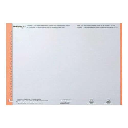 Elba AZO Ultimate White Card Inserts 100330197 [270]   Easily changeable and simple to use for the top of the file   Fusion Office UK