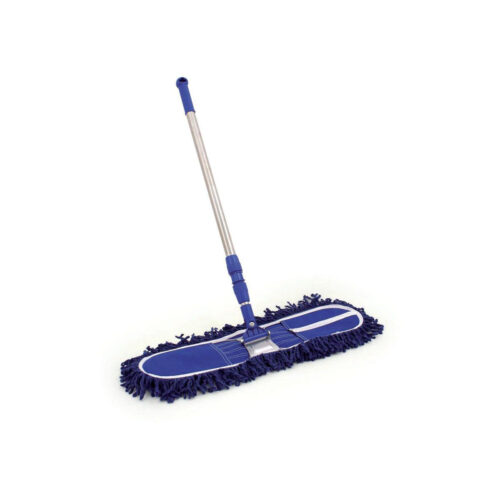 Dustbeater Sweeper with Telescopic Handle (60cm Blue head)   The dust beater is lightweight, efficient and easy to use   Fusion Office UK