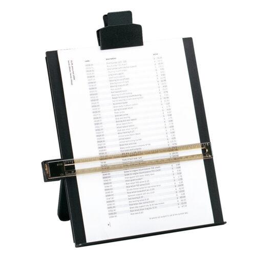 Desktop Copyholder A4 Black   Line guide ruler slides up & down   Holds up to 80 sheets of paper   Fusion Office