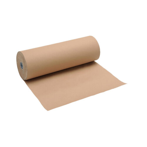 Pure Kraft Paper Packaging Roll 90gsm 600mm x 225m Brown   Robust & Strong   Tear & Puncture Resistant   Fusion Office
