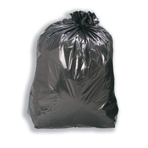 Refuse Sacks Black Light Duty (5kg) Recycled [Pack 200]   CHSA Weight Classification 10KG   100 Litres   Fusion Office