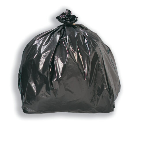 Black Sacks 95 Litres Light Duty Pack 200 | Strong, versatile & durable | Also known as Refuse Sacks | Fusion Office