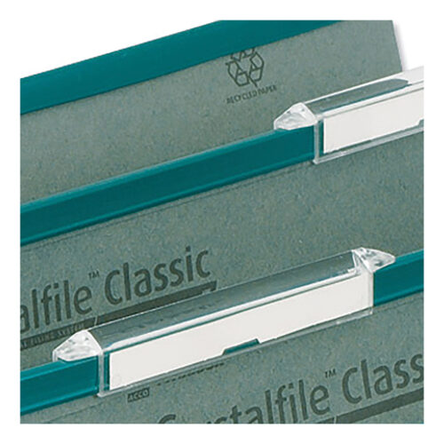 Rexel Crystalfile Linked Top-Tabs Clear 78289 [Pack 50]   Designed for use with Crystalfile Classic Linked suspension files   Fusion Office UK