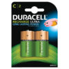 Duracell Rechargeable C 3000mAh Batteries [Pack 2]   Comes pre-charged and ready to use   Guaranteed to last 5 years   Fusion Office UK