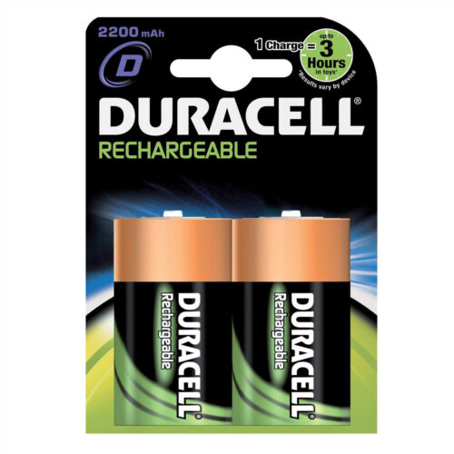 Duracell Rechargeable D 3000mAh Batteries [Pack 2] | Comes pre-charged and ready to use | Guaranteed to last 5 years | Fusion Office UK