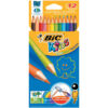 BIC KIDS Evolution Colouring Pencils Assorted 829029 [Pack 12] | Designed for children to use at school | 50% recycled | Fusion Office UK