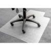 PVC Lipped Carpet Chair Mat 900x1200mm   Made from durable PVC   Clear / Transparent design   Gripper Back   Fusion Office UK