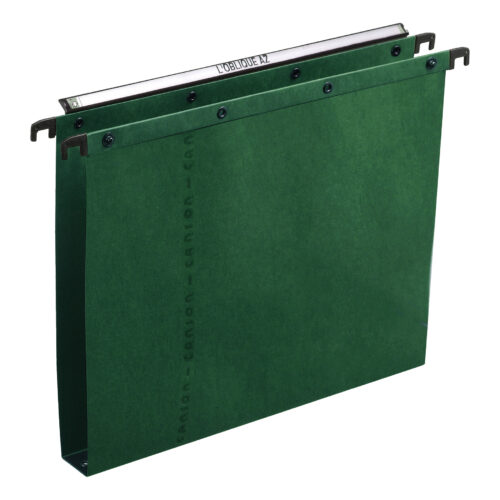 Elba AZO Suspension Files 30mm Green Foolscap 100330319 [Pack 25] | 100% recycled material | Durable steel metal bars | Fusion Office UK