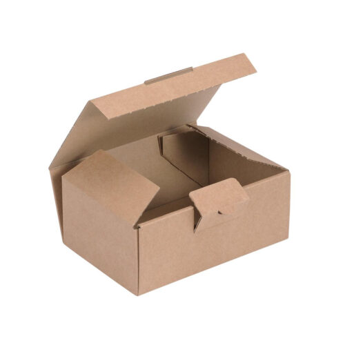 Kraft Mailing Box W160 x D110 x H64mm [20] | Easy assembly mailing box | Secure locking tab | Fusion Office