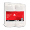 Kitchen Rolls 2 Ply Towels White [Pack 2]   55 sheets per roll   Twin pack   Two-ply paper towel   Fusion Office