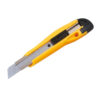 Retractable Snap-Off Knife 18mm   Stainless steel medium-duty cutting knife with easy snap-off blades   Plastic body   Fusion Office UK