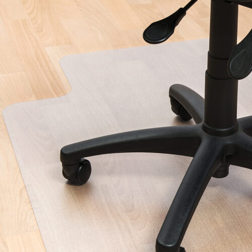 PVC Lipped Hard Floor Chair Mat 900x1200   Clear / Transparent design   Smooth back for hard floor application   Fusion Office UK